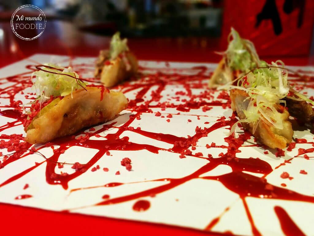 Empanadilla china del Street XO en Madrid, en la zona gourmet del Corte Inglés de Serrano